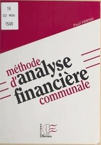 Paul Hernu - Méthode d'analyse financière communale.