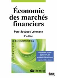 Paul-Jacques Lehmann - Economie des marchés financiers.