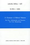 Paul Joüon et T Muraoka - A Grammar of Biblical Hebrew 2 Volumes.