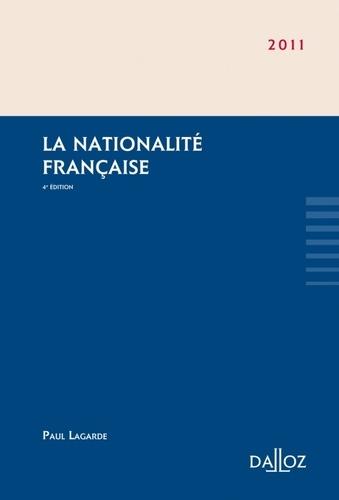 Paul Lagarde - La nationalité française 2011.