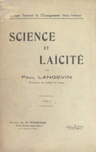 Paul Langevin - Science et laïcité.