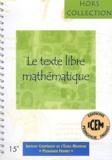 Paul Le Bohec - Le texte libre mathématique.