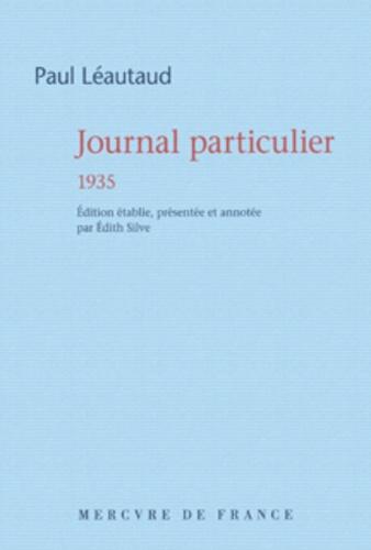Paul Léautaud - Journal particulier 1935.