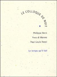 Paul-Louis Rossi et Philippe Beck - .