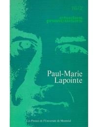 Paul-marie Lapointe et André G. Bourassa - Volume 16 numéro 2.