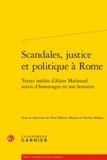 Paul Marius Martin et Emilia Ndiaye - Scandales, justice et politique à Rome.