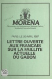 Paul Mba-Abessole - Lettre ouverte aux Français sur la faillite actuelle du Gabon - Paris le 20 avril 1987.