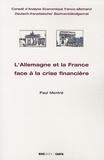 Paul Mentré - L'Allemagne et la France face a la crise financiere.