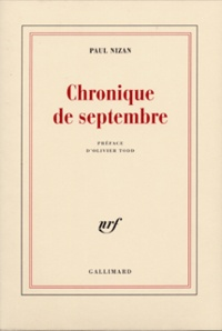 Paul Nizan - Chronique de septembre.