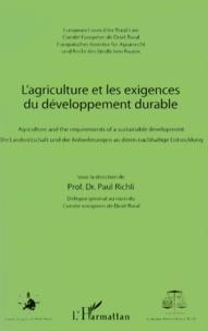 Paul Richli - L'agriculture et les exigences du développement durable.