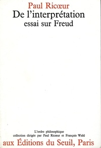 De l'interprétation - Paul Ricoeur - Format ePub - 9782021068368 - 11,99 €