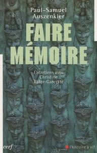 Histoiresdenlire.be Faire mémoire - Entretiens avec Christine Rater-Garcette Image