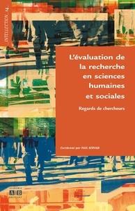 Paul Servais - L'évaluation de la recherche en sciences humaines et sociales - Regards de chercheurs.