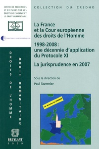 Histoiresdenlire.be La France et la cour Européenne des Droits de l'Homme - 1998-2008 : une décennie d'application du protocole XI, La jurisprudence en 2007 Image