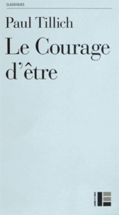 Le Courage d'être - Paul Tillich pdf epub