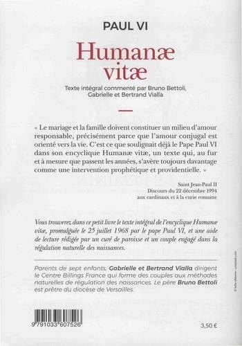 Humanae vitae. Lettre encyclique sur le mariage et la régulation des naissances
