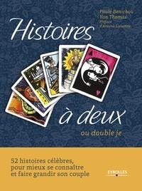 Galabria.be Histoires à deux - Ou double je. Coffret contenant : 1 livre et un jeu de 52 cartes Image