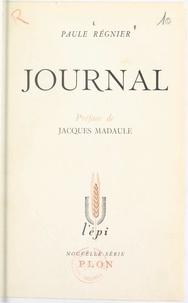 Paule Régnier et Jacques Madaule - Journal.