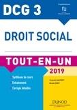 Paulette Bauvert et Nicole Siret - DCG 3 - Droit social 2019 - 11e éd. - Tout-en-Un.