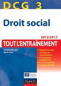 Paulette Bauvert - DCG 3 Droit social - Tout l'entrainement.