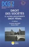 Paulette Bauvert et Nicole Siret - Droit des sociétés et autres groupements droit pénal DCG 2.