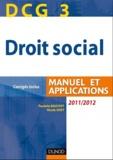 Paulette Bauvert et Nicole Siret - Droit social DCG 3 - Manuel et applications.