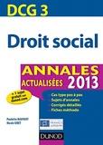 Paulette Bauvert et Nicole Siret - Droit social DCG 3 - Annales.