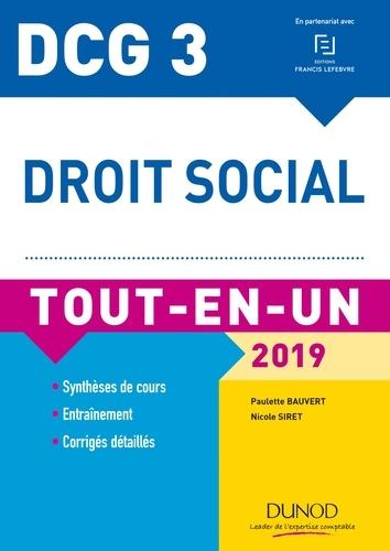 Paulette Bauvert et Nicole Siret - Droit social DCG 3 - Tout-en-un.