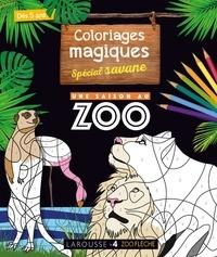 Pauline Amelin et Alain Boyer - Mon cahier de coloriages magiques spécial savane.