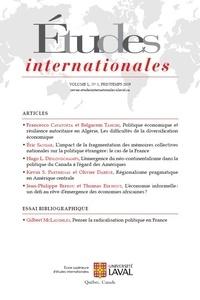 Pauline Curien et Francesco Cavatorta - Études internationales  : Études internationales. Vol. 50 No. 1, Printemps 2019.