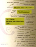 Pauline Leet Pittenger - Sexisme, le mot pour le dire ! 1965.