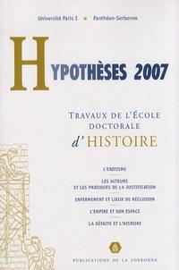 Pauline Schmitt Pantel - Hypothèses 2007 - Travaux de l'Ecole doctorale d'histoire de l'université Paris I Panthéon-Sorbonne.