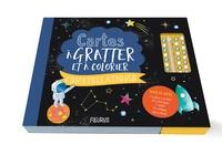 Ebooks forums de téléchargement Cartes à gratter et à colorier Constellations  - Avec : 5 cartes à gratter, 40 coloriages, 1 stylet, 72 cristaux autocollants