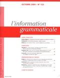 A. Arroyo Ortega - L'information grammaticale N° 123 : Hors concours.