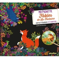 Peggy Nille - Fables de La Fontaine - Avec 5 cartes à gratter, 5 cartes à colorier, 1 pique en bois.