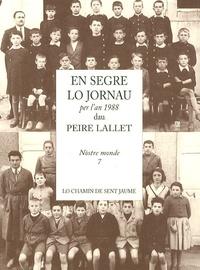 Peire Lallet - En segre lo jornau per l'an 1988.