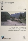 Penel - Aspects socio-économiques de la gestion des risques naturels - Actes du colloque..., Paris, 1-3 octobre 1991.