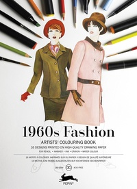 Pepin Press - 1960s Fashion - 16 motifs à colorier.