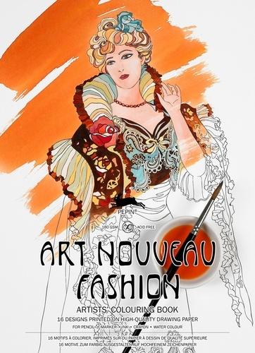 Pepin Press - Art Nouveau Fashion - 16 motifs à colorier.