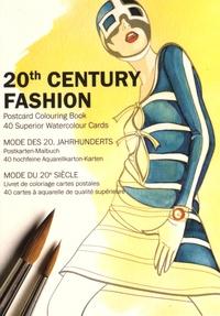 Pepin Press - Mode du 20e siècle - Livrets de coloriage, carte postales, 40 cartes à aquarelle de qualité supérieure.