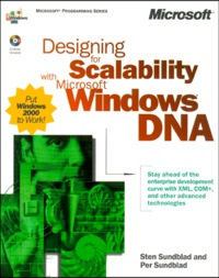 Designing for Scalability with Microsoft Windows DNA. CD-Rom included - Per Sundblad |