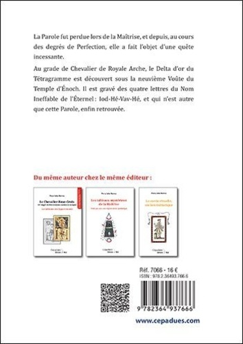 Le Chevalier de Royale-Arche. La légende d'Enoch