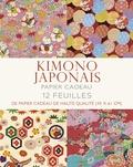 Periplus - Papier cadeau kimono japonais - 12 feuilles de papier cadeau de haute qualité (45 x 61 cm).