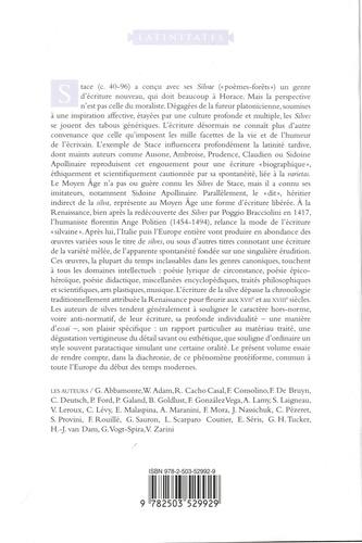La silve. Histoire d'une écriture libérée en Europe, de l'Antiquité au XVIIIe siècle