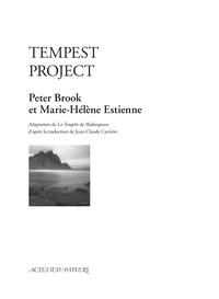 Peter Brook et Marie-Hélène Estienne - Tempest Project.