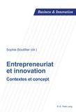 Sophie Boutillier - Entrepreneuriat et innovation - Contextes et concept.