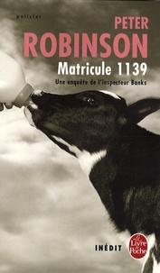 Peter Robinson - Matricule 1139.