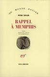Peter Taylor - Rappel à Menphis.