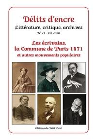Gérard Cherbonnier - Délits d'encre N° 27, été 2020 : Les écrivains, la Commune de Paris 1871 et autres mouvements populaires.