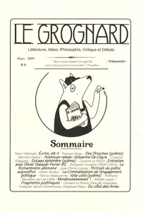 Marc Villemain et Thomas Vinau - Le Grognard N° 9, Mars 2009 : .